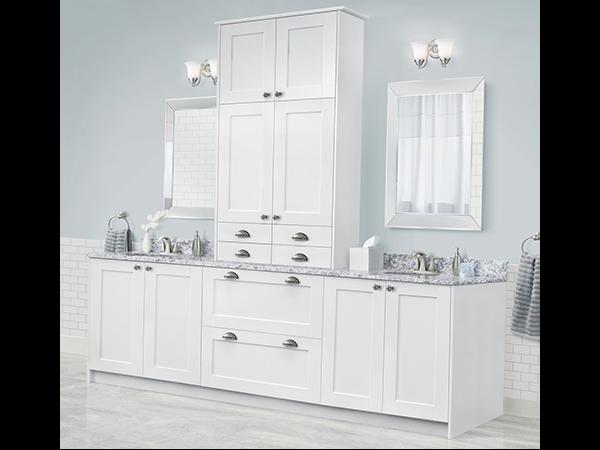 StrÖmma White KlËarvŪe Cabinetry, Menards Bathroom Storage Cabinets