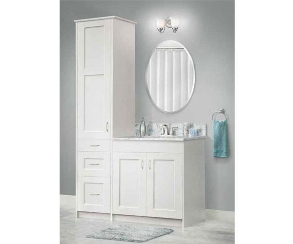 Bathroom KlËarvŪe Cabinetry, Menards Bathroom Storage Cabinets