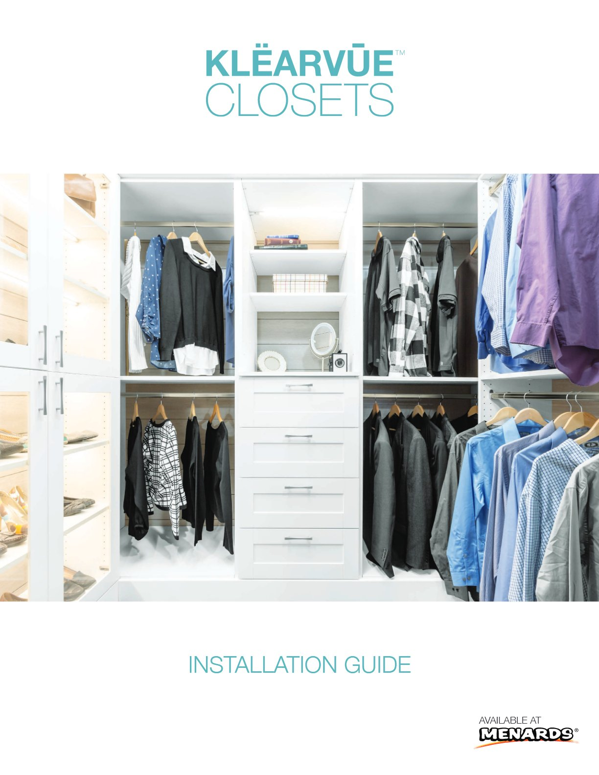 Closet Installation Guide Klearvue Cabinetry